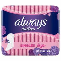 Always Dailies Singles to go tisztasági betét 20db