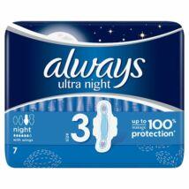 Always Ultra Night szárnyas egészségügyi betét (3-as méret) 7db