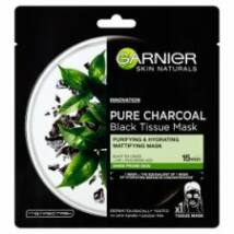 Garnier Skin Naturals Pure Charocal tisztító hidratáló maszk zsíros bőrre 28g