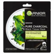 Garnier Skin Naturals Pure Charocal tisztító és hidratáló maszk tág pórusokra 28g