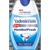 Vademecum 2in1 Menthol Fresh fogkrém+szájöblítő 75ml