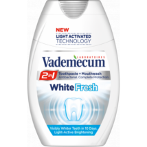 Vademecum 2in1 White Fresh fogkrém+szájöblítő 75ml