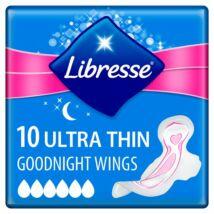 Libresse Ultra Goodnight vékony szárnyas egészségügyi betét éjszakai használatra 10db