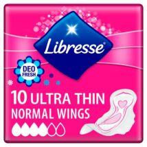 Libresse Ultra Normal Deo Fresh enyhén illatosított vékony szárnyas egészségügyi betét 10db