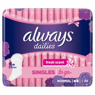 Always Dailies Singles to go friss tisztasági betét 20db