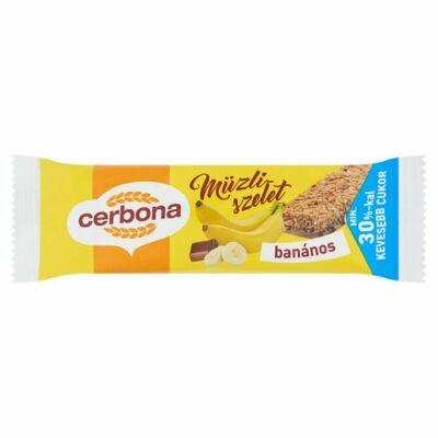 Cerbona banános müzliszelet 20g