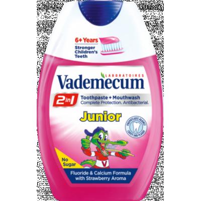 Vademecum 2in1 Junior eper fogkrém+szájöblítő 75ml