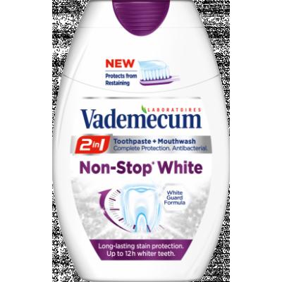 Vademecum 2in1 Non Stop White fogkrém+szájöblítő 75ml