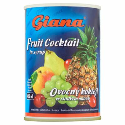 Giana gyümölcskoktél cukrozott lében 410g