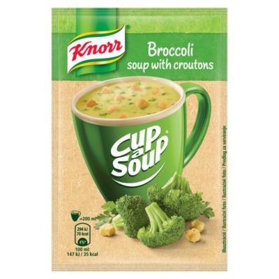 Knorr Cup a Soup levespor brokkolikrémleves zsemlekockával 16g