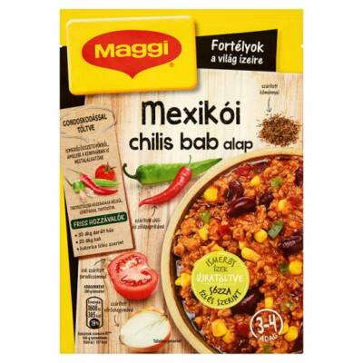 Maggi fortélyok mexikói chilis bab alap 45g
