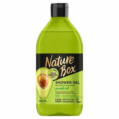 Nature Box tusfürdő Avokádó a táplált bőrért 385ml