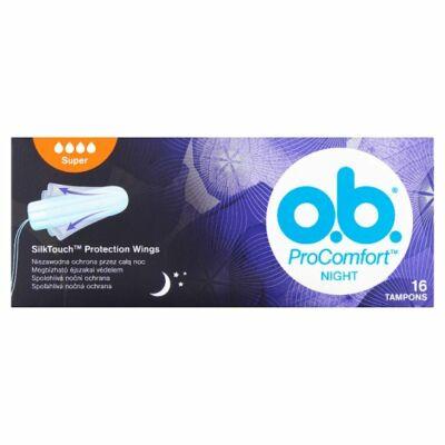 O.B. ProComfort Night Super tampon 16db