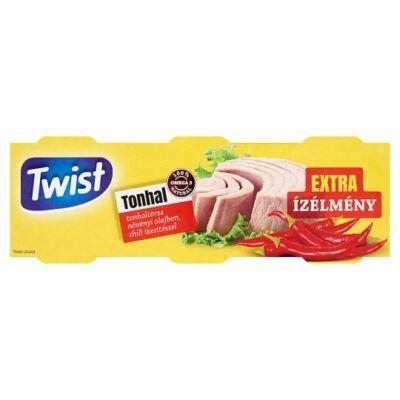 Twist Tonhaltörzs Növényi Olajban chili ízesítéssel 3x80g