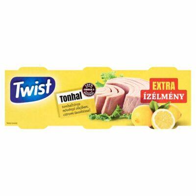 Twist Tonhaltörzs Növényi Olajban citrom ízesítéssel 3x80g