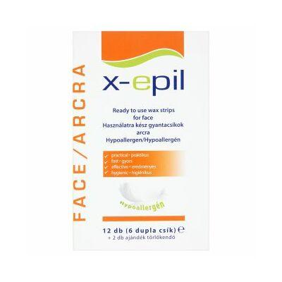 X-Epil használatra kész gyantacsíkok arcra 12db