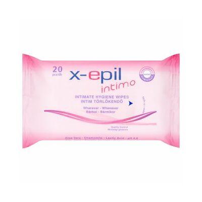 X-Epil Intimo intim törlőkendő 20db